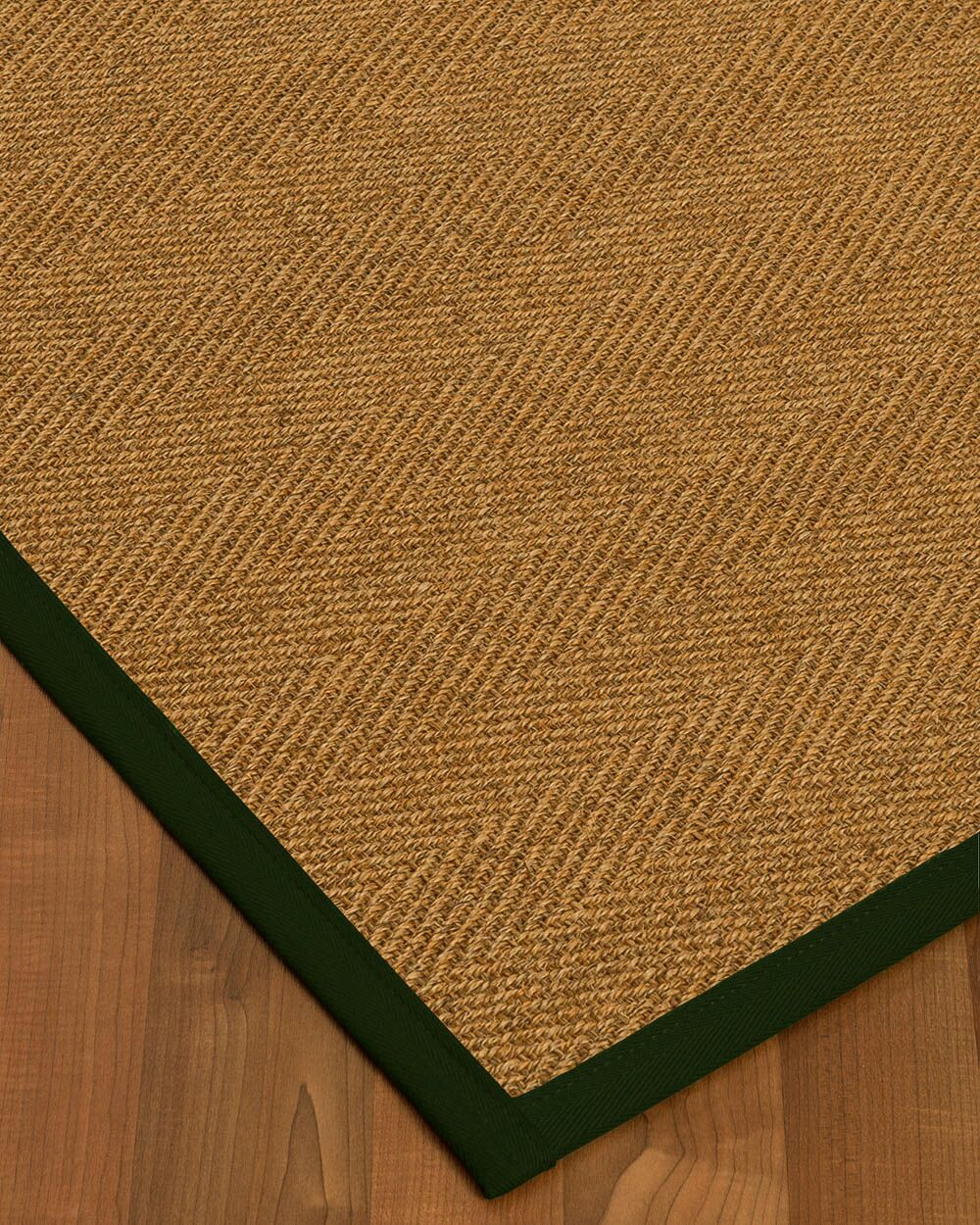 Asmund Border Hand-Woven Brown/Moss Area Rug Rug Size: Rectangle 6' x 9', Rug Pad Included: Yes