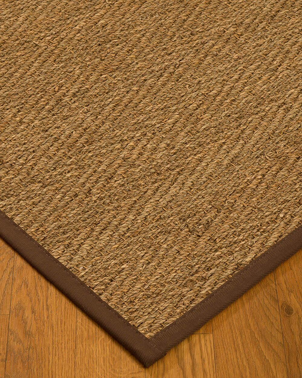 Chavarria Border Hand-Woven Beige/Brown Area Rug Rug Size: Rectangle 5' x 8', Rug Pad Included: Yes