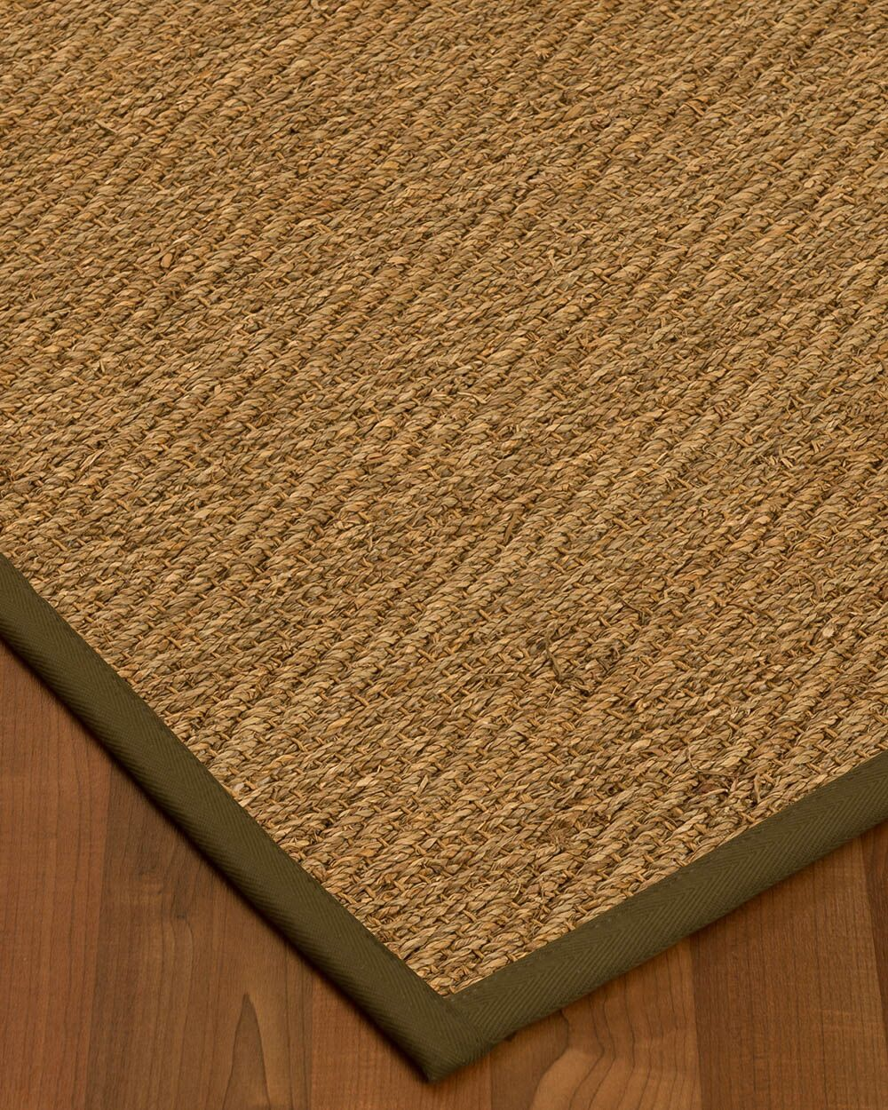 Chavarria Border Hand-Woven Beige/Malt Area Rug Rug Size: Rectangle 9' x 12', Rug Pad Included: Yes