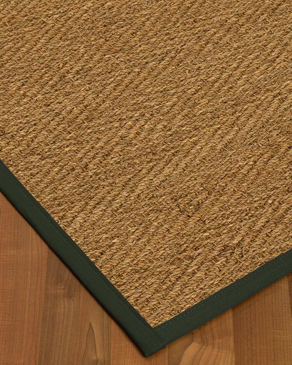 Kennett Border Hand-Woven Brown/Black Area Rug Rug Size: Rectangle 4' x 6', Rug Pad Included: Yes