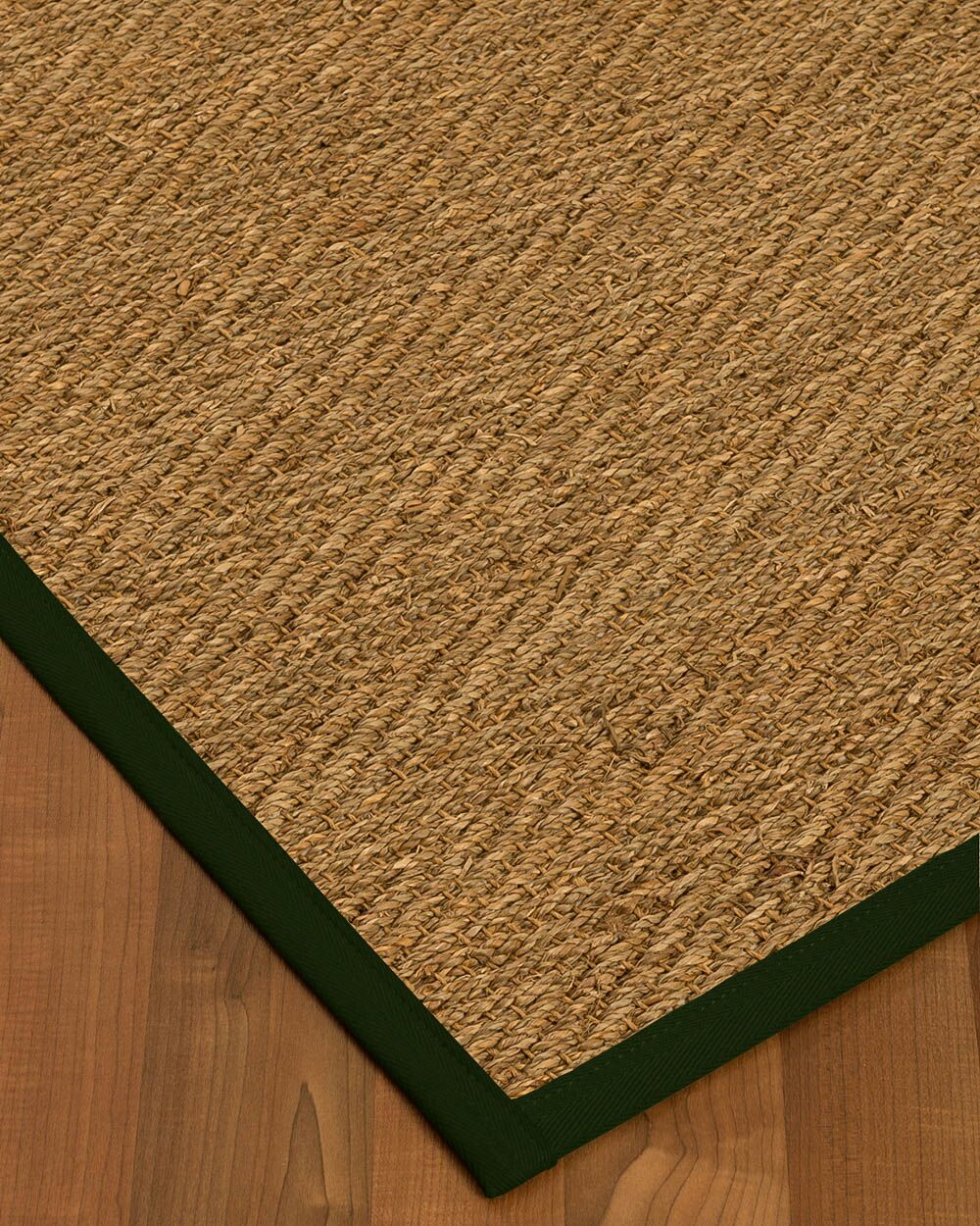 Chavarria Border Hand-Woven Beige/Moss Area Rug Rug Size: Rectangle 8' x 10', Rug Pad Included: Yes