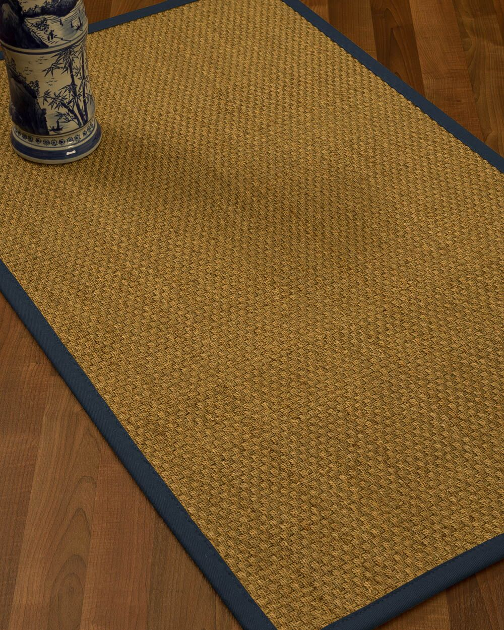 Rosabel Border Hand-Woven Beige/Marine Area Rug Rug Pad Included: No, Rug Size: Rectangle 3' x 5'