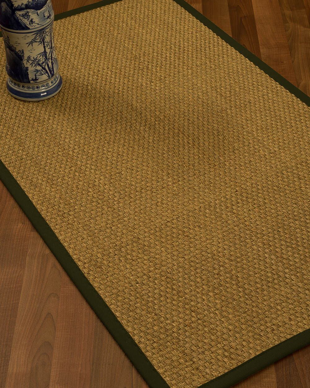 Rosabel Border Hand-Woven Beige/Moss Area Rug Rug Pad Included: No, Rug Size: Rectangle 3' x 5'