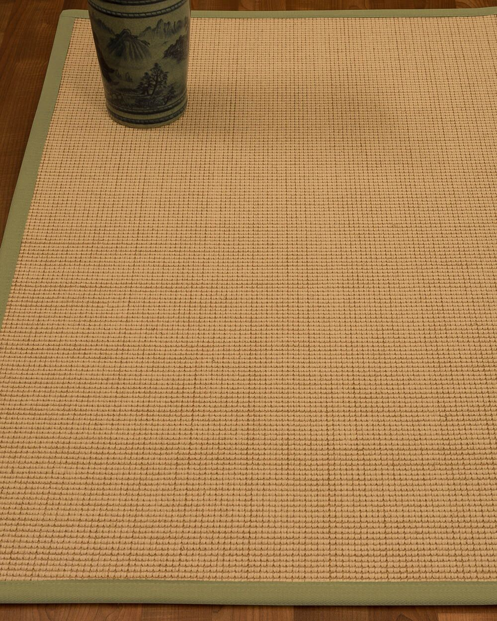 Chaves Border Hand-Woven Wool Beige/Natural Area Rug Rug Size: Rectangle 12' x 15', Rug Pad Included: Yes