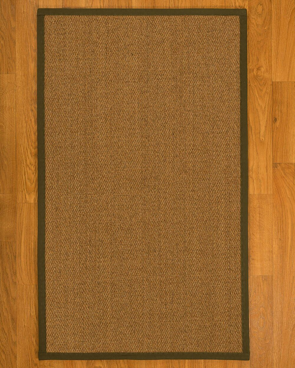 Asmund Border Hand-Woven Brown/Malt Area Rug Rug Size: Rectangle 6' x 9', Rug Pad Included: Yes