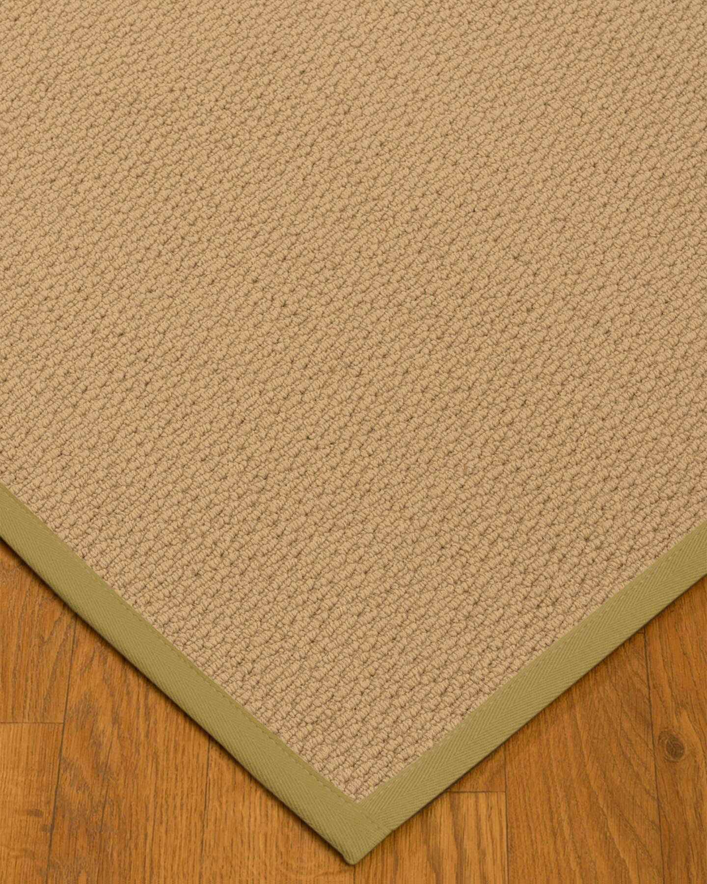 Chea Border Hand-Woven Wool Beige/Natural Area Rug Rug Size: Rectangle 4' x 6', Rug Pad Included: Yes