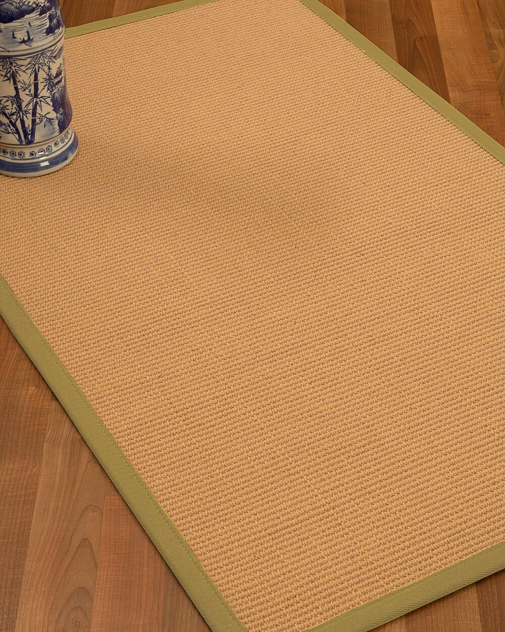 Lafayette Border Hand-Woven Wool Beige/Natural Area Rug Rug Size: Rectangle 4' x 6', Rug Pad Included: Yes