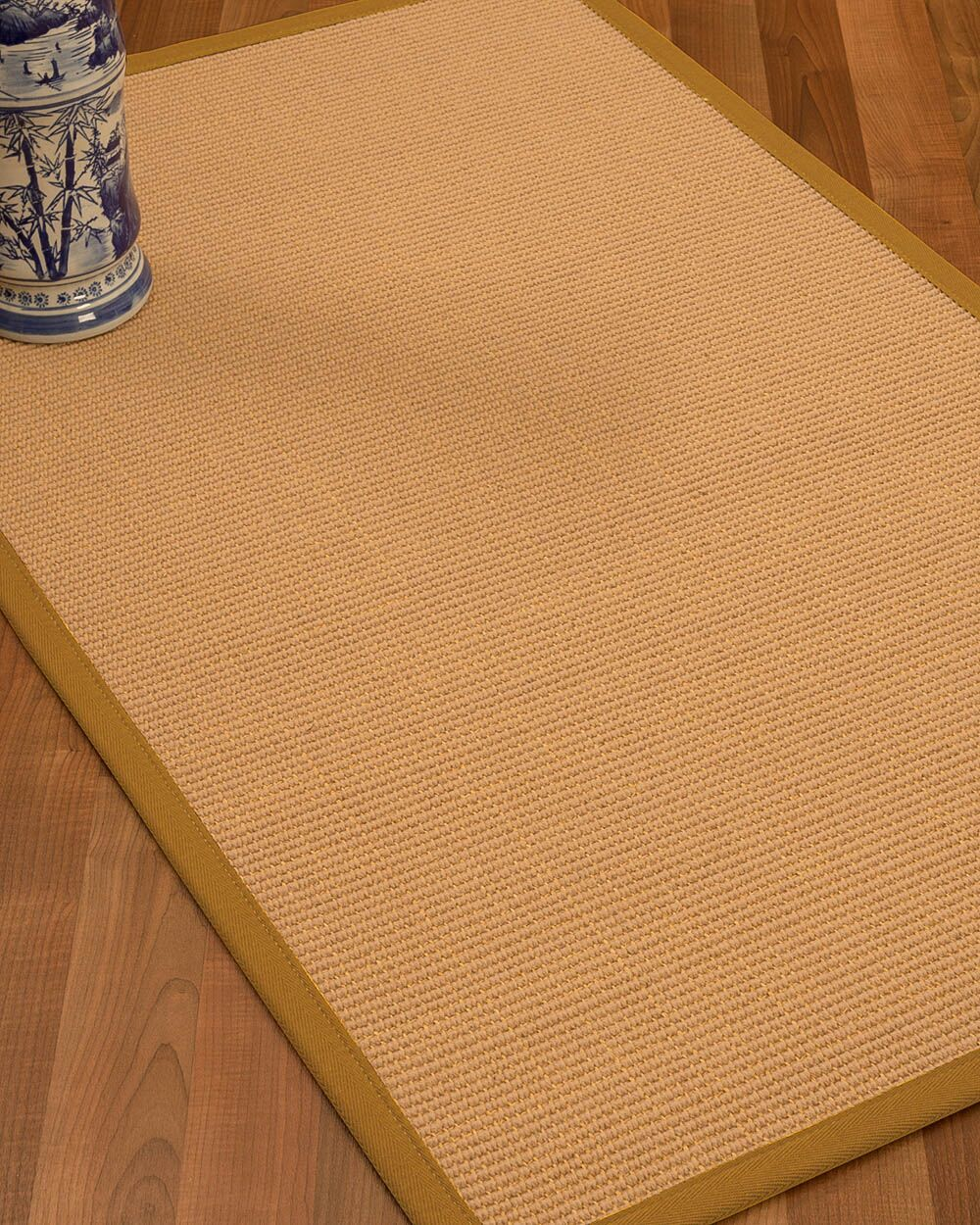 Lafayette Border Hand-Woven Wool Beige/Sienna Area Rug Rug Size: Rectangle 6' x 9', Rug Pad Included: Yes
