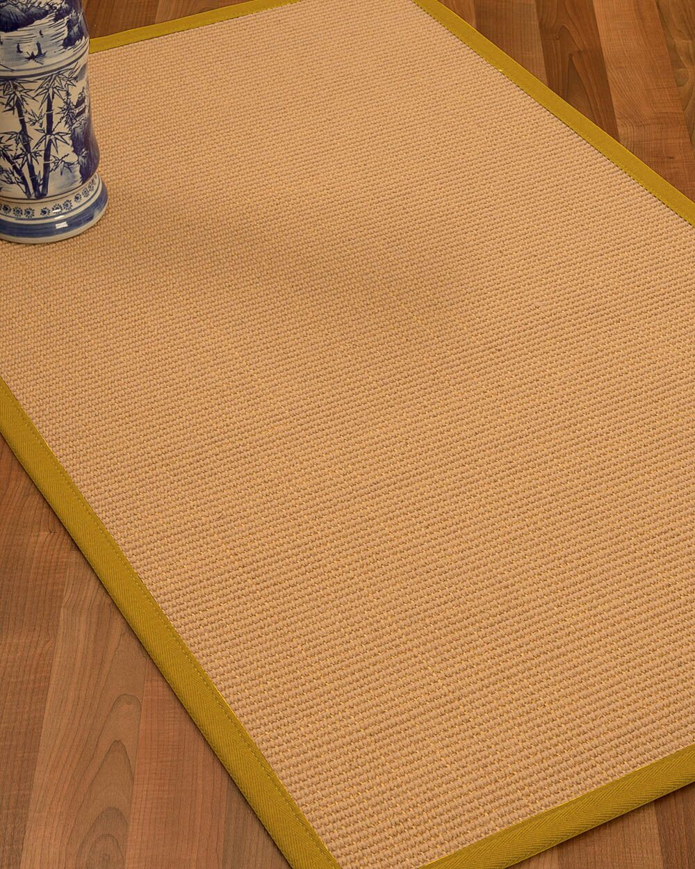 Lafayette Border Hand-Woven Wool Beige/Tan Area Rug Rug Size: Rectangle 6' x 9', Rug Pad Included: Yes