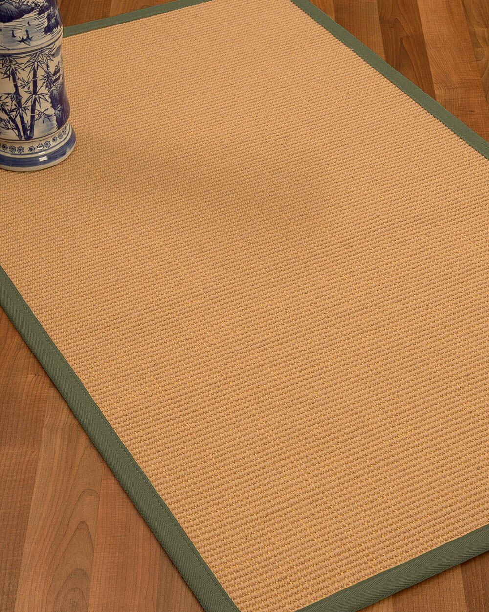 Lafayette Border Hand-Woven Wool Beige/Fossil Area Rug Rug Size: Rectangle 4' x 6', Rug Pad Included: Yes