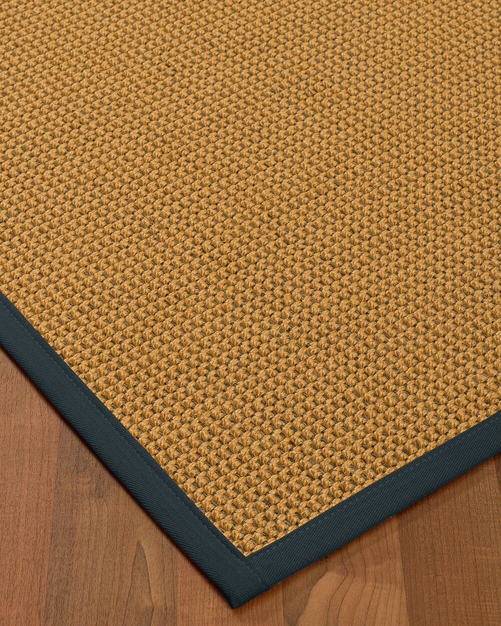 Atia Border Hand-Woven Brown/Marine Area Rug Rug Size: Rectangle 9' x 12', Rug Pad Included: Yes
