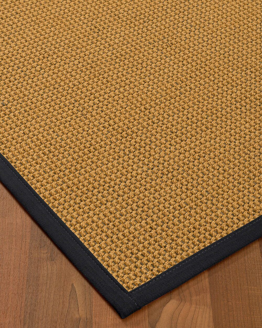 Atia Border Hand-Woven Beige/Midnight Blue Area Rug Rug Pad Included: No, Rug Size: Runner 2'6