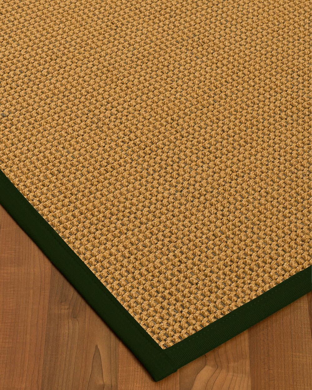 Atia Border Hand-Woven Beige/Moss Area Rug Rug Pad Included: No, Rug Size: Rectangle 3' x 5'