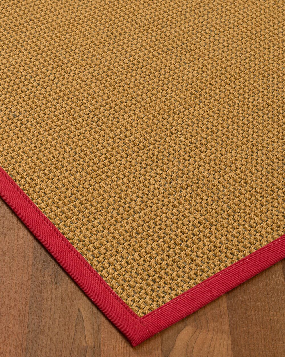 Atia Border Hand-Woven Beige/Red Area Rug Rug Pad Included: No, Rug Size: Rectangle 3' x 5'