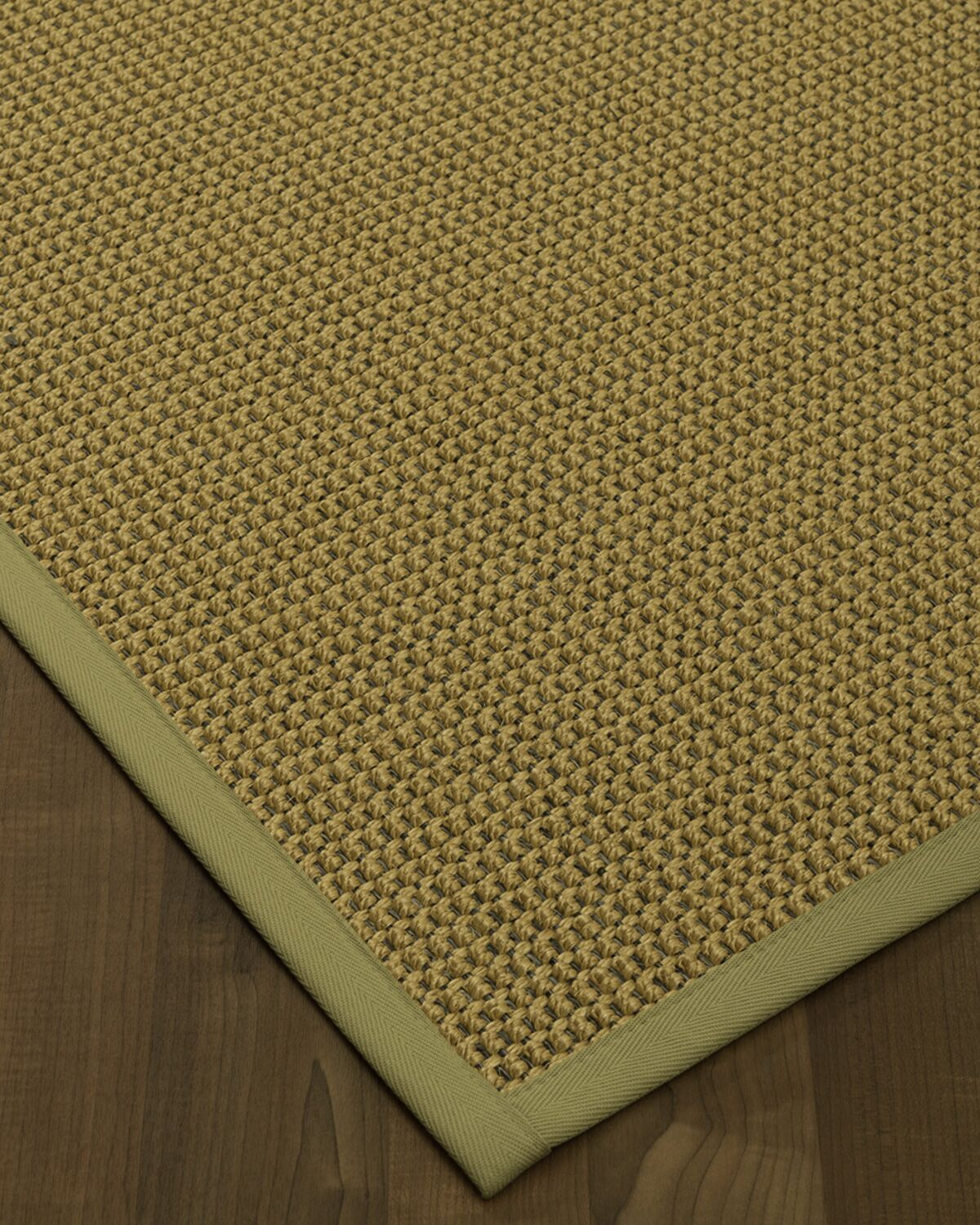 Atia Border Hand-Woven Beige/Sand Area Rug Rug Size: Rectangle 9' x 12', Rug Pad Included: Yes