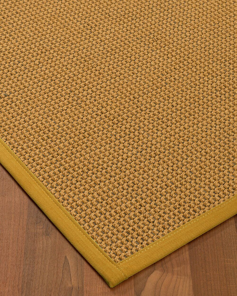 Atia Border Hand-Woven Beige/Tan Area Rug Rug Size: Rectangle 12' x 15', Rug Pad Included: Yes