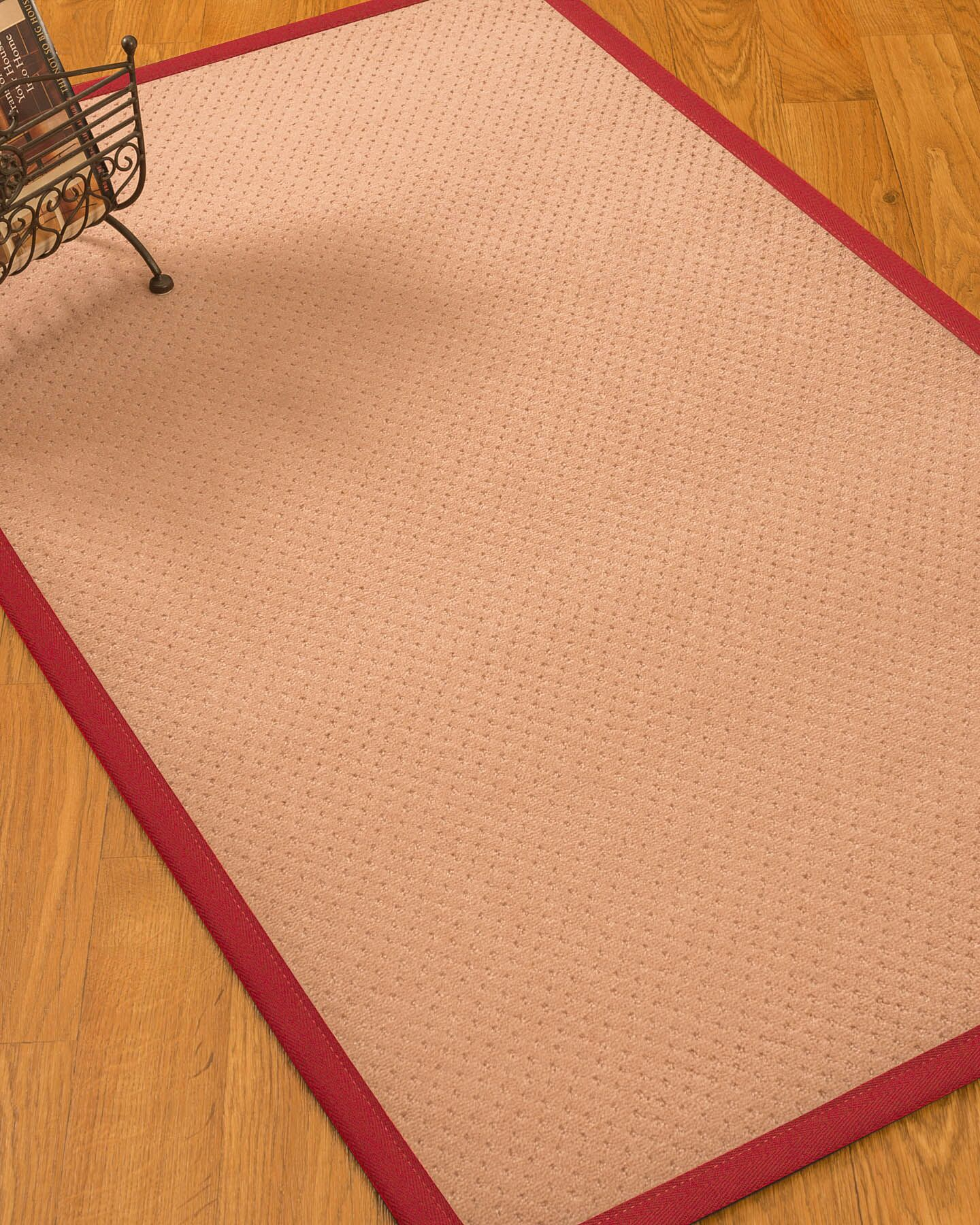 Farnham Border Hand-Woven Wool Pink/Red Area Rug Rug Size: Rectangle 12' x 15', Rug Pad Included: Yes