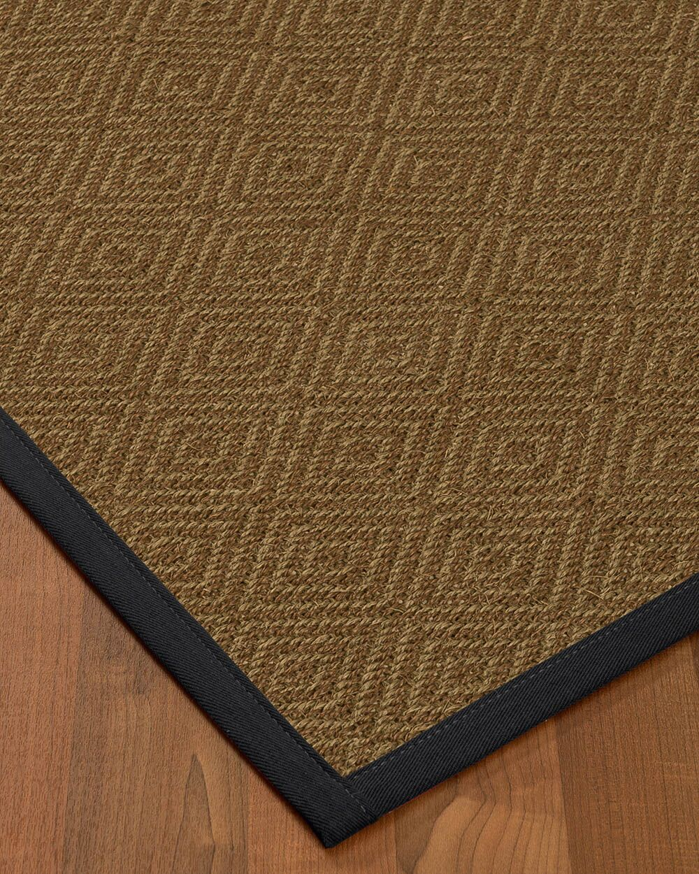 Magnuson Border Hand-Woven Brown/Midnight Blue Area Rug Rug Pad Included: No, Rug Size: Runner 2'6
