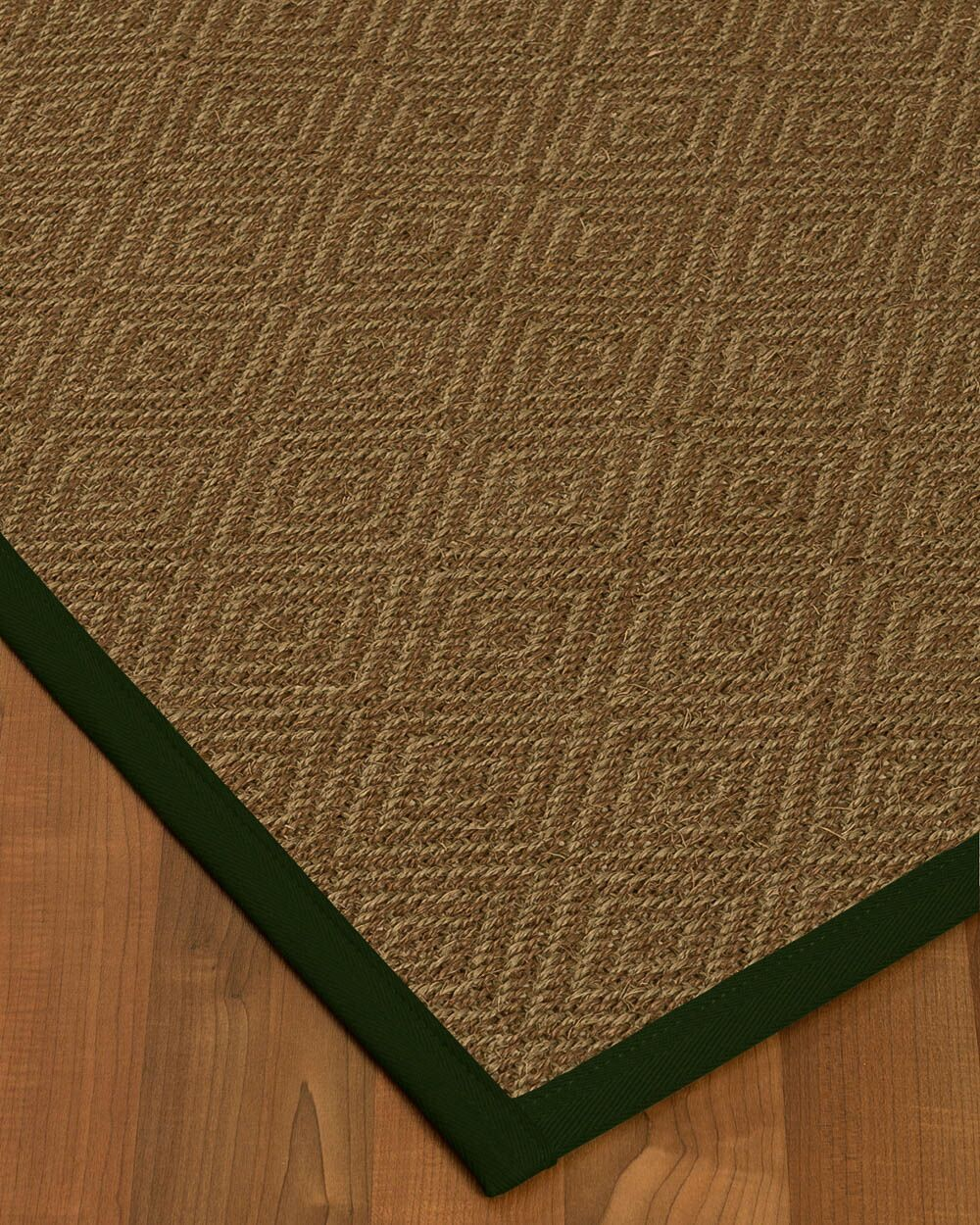 Keown Border Hand-Woven Brown/Black Area Rug Rug Size: Rectangle 8' x 10', Rug Pad Included: Yes