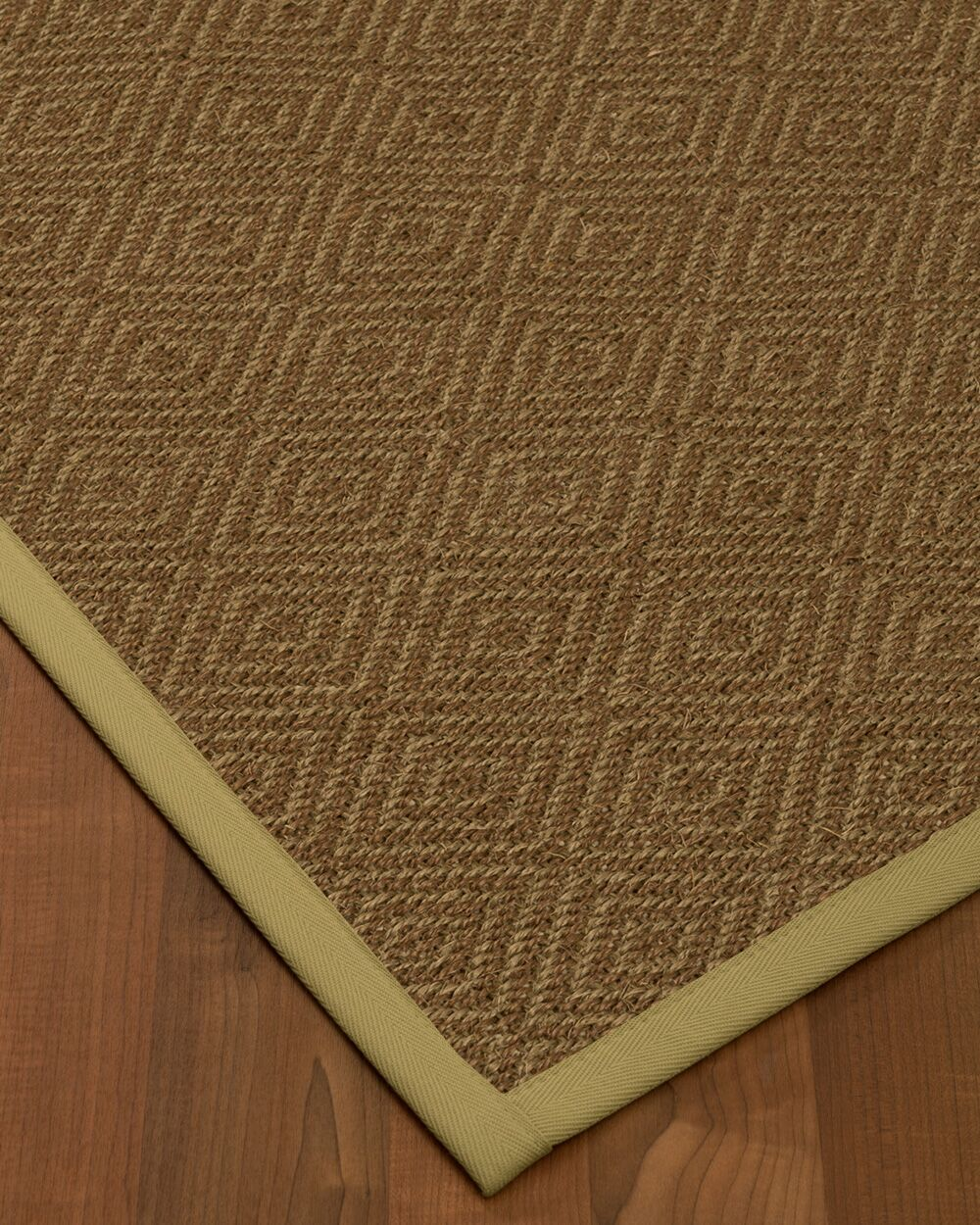 Magnuson Border Hand-Woven Brown/Natural Area Rug Rug Size: Rectangle 5' x 8', Rug Pad Included: Yes
