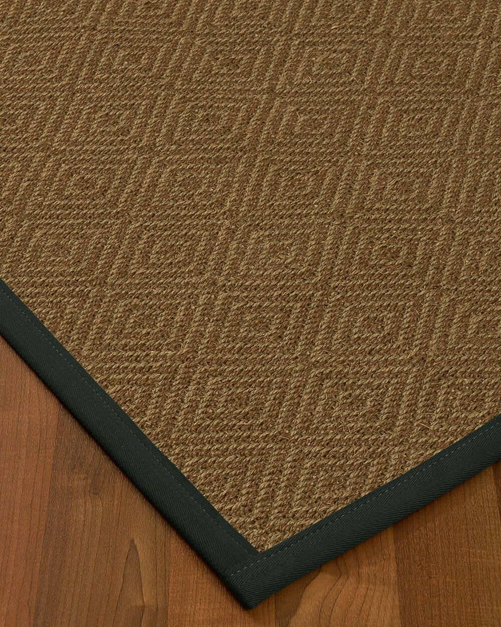 Kenn Border Hand-Woven Brown/Onyx Area Rug Rug Size: Rectangle 8' x 10', Rug Pad Included: Yes