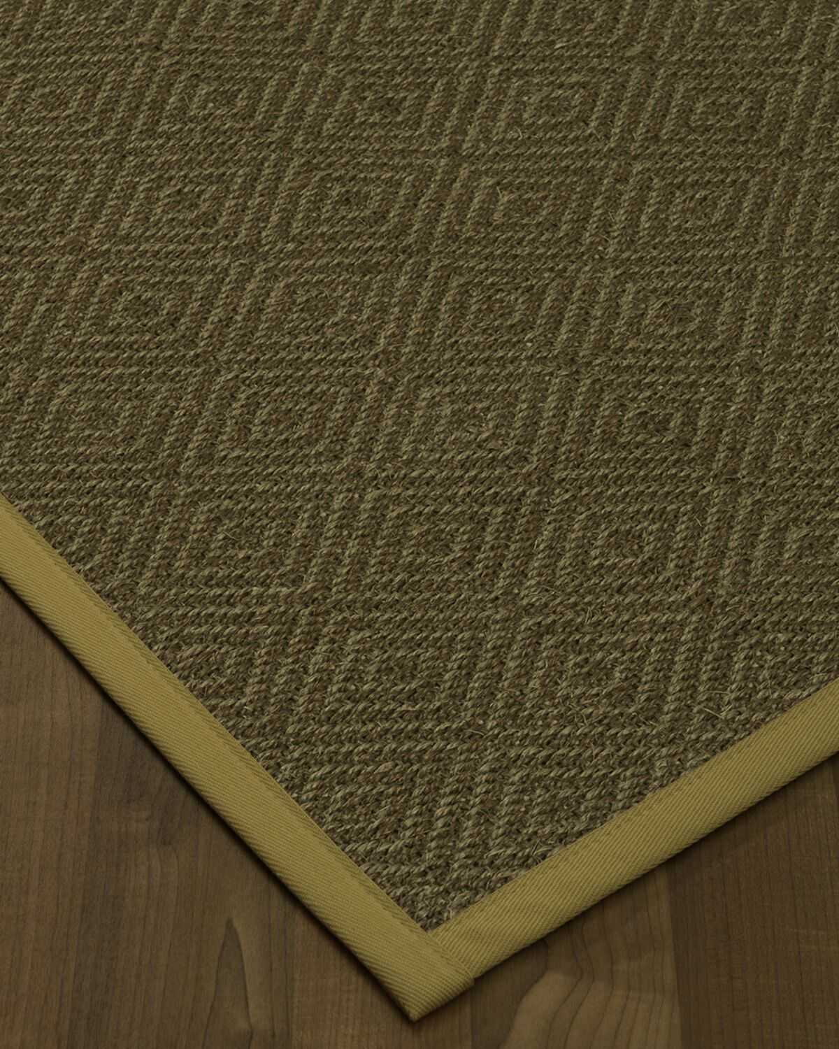 Magnuson Border Hand-Woven Green/Sage Area Rug Rug Size: Rectangle 5' x 8', Rug Pad Included: Yes
