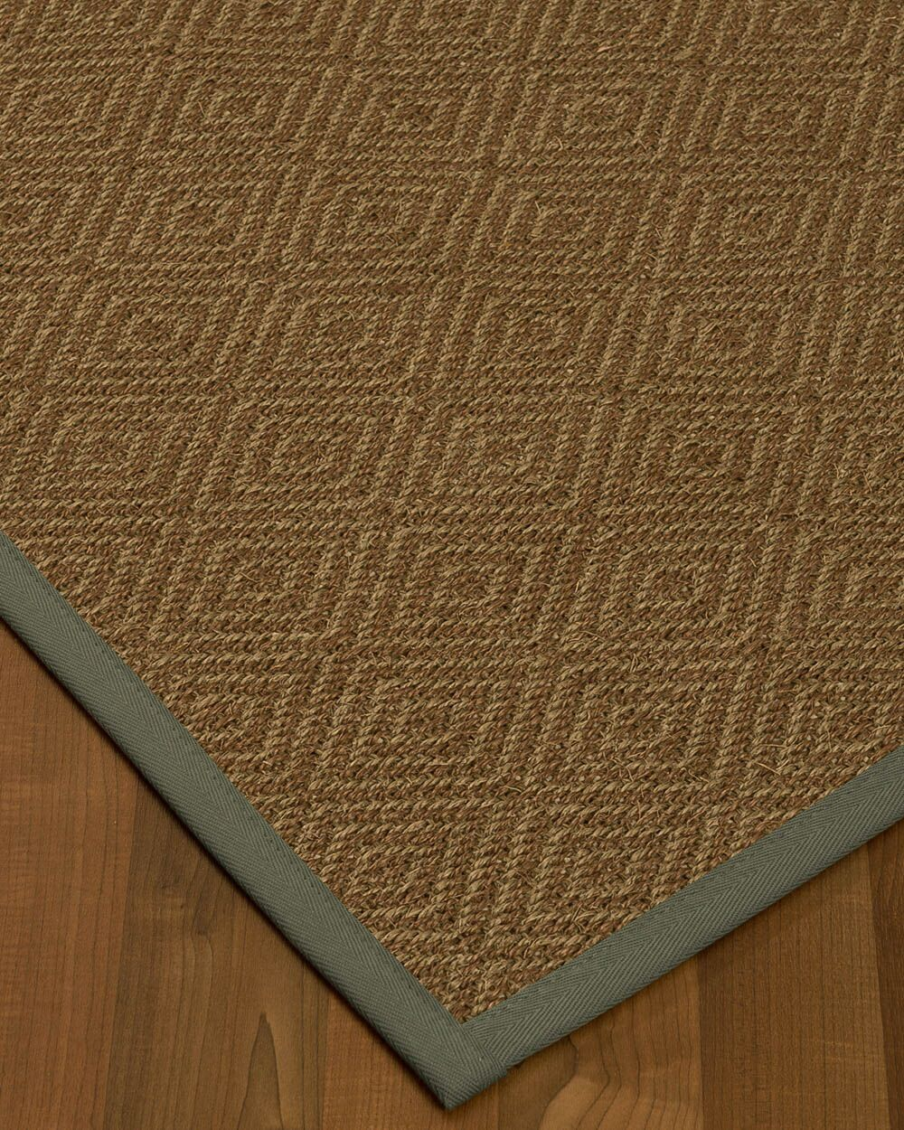 Magnuson Border Hand-Woven Brown Area Rug Rug Pad Included: No, Rug Size: Rectangle 3' x 5'