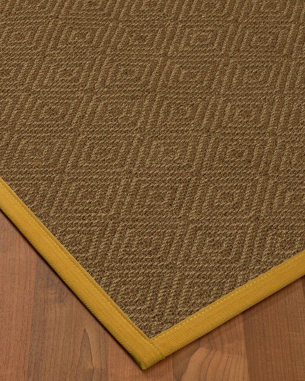 Magnuson Border Hand-Woven Brown/Tan Area Rug Rug Pad Included: No, Rug Size: Runner 2'6