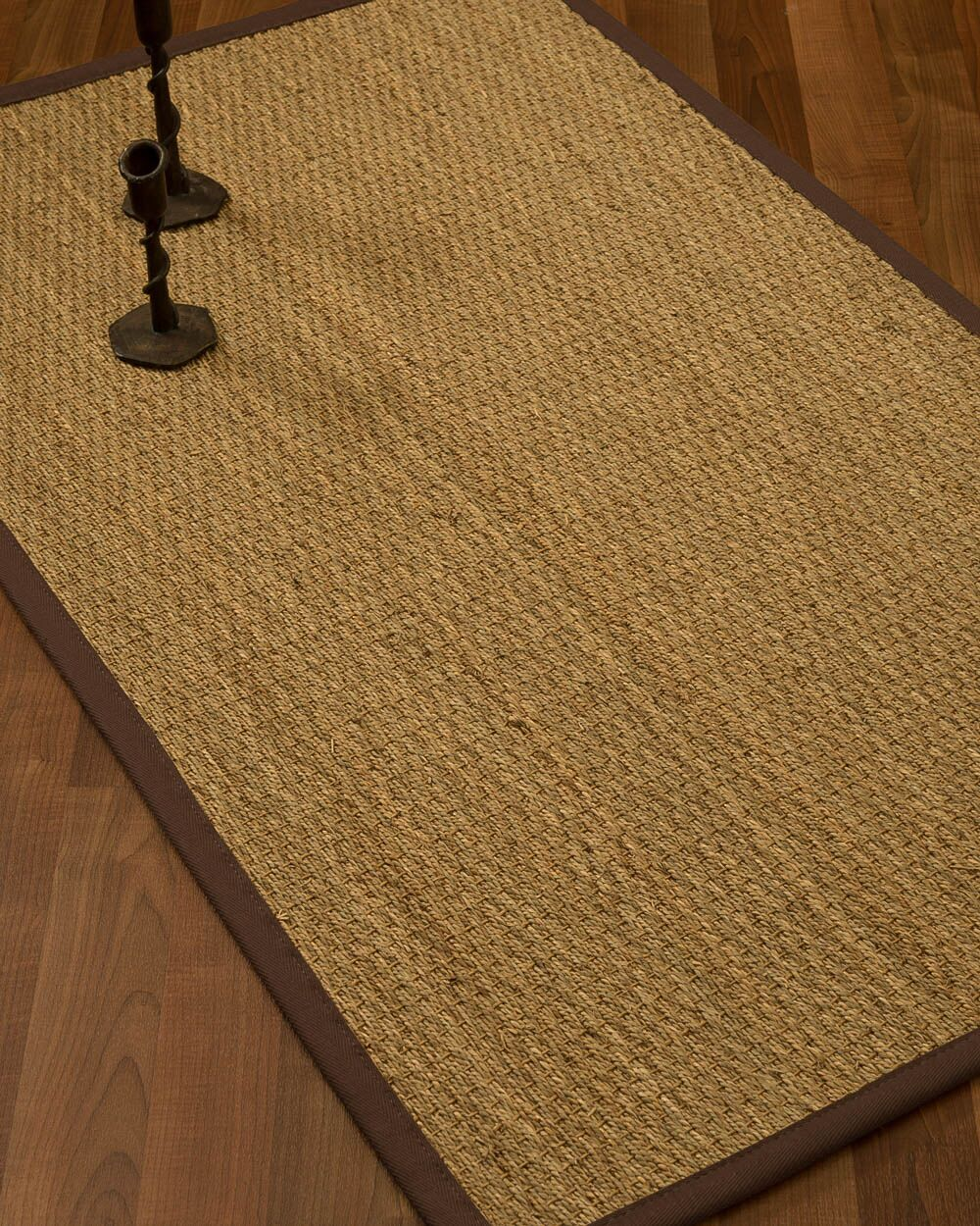 Vanmatre Border Hand-Woven Beige/Brown Area Rug Rug Size: Rectangle 9' x 12', Rug Pad Included: Yes