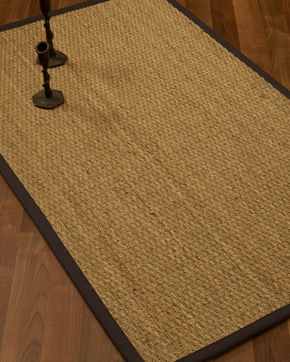 Vanmatre Border Hand-Woven Beige/Fudge Area Rug Rug Size: Rectangle 12' x 15', Rug Pad Included: Yes