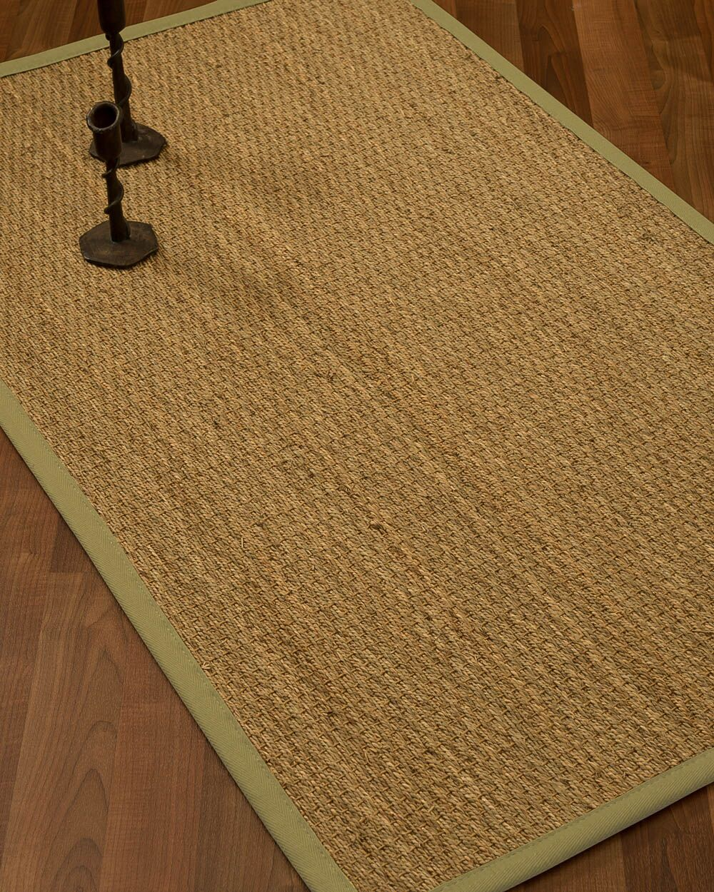 Vanmatre Border Hand-Woven Beige Area Rug Rug Size: Rectangle 6' x 9', Rug Pad Included: Yes