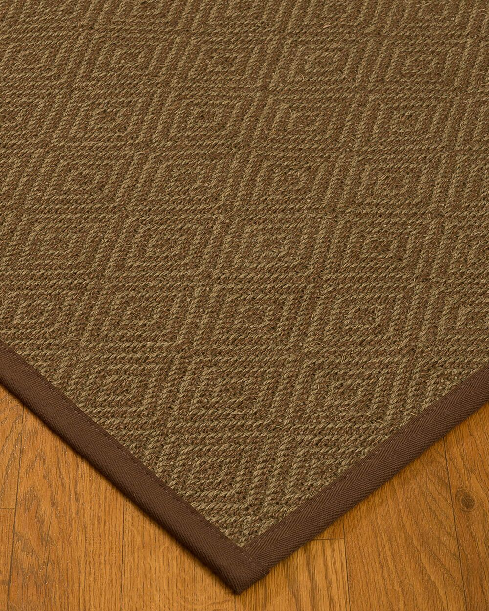 Magnuson Border Hand-Woven Brown Area Rug Rug Pad Included: No, Rug Size: Runner 2'6