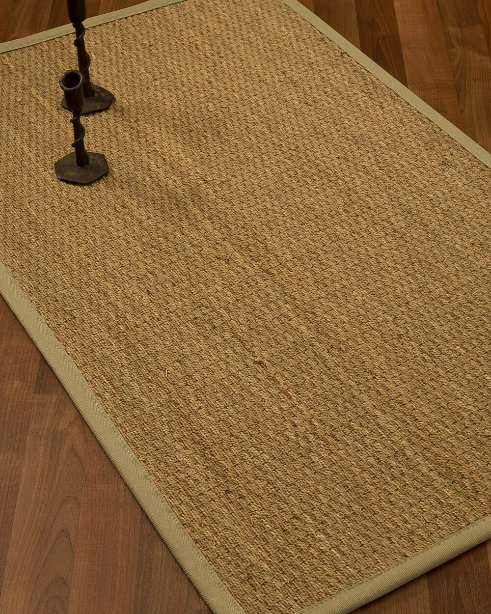 Vanmatre Border Hand-Woven Beige/Sand Area Rug Rug Size: Rectangle 8' x 10', Rug Pad Included: Yes