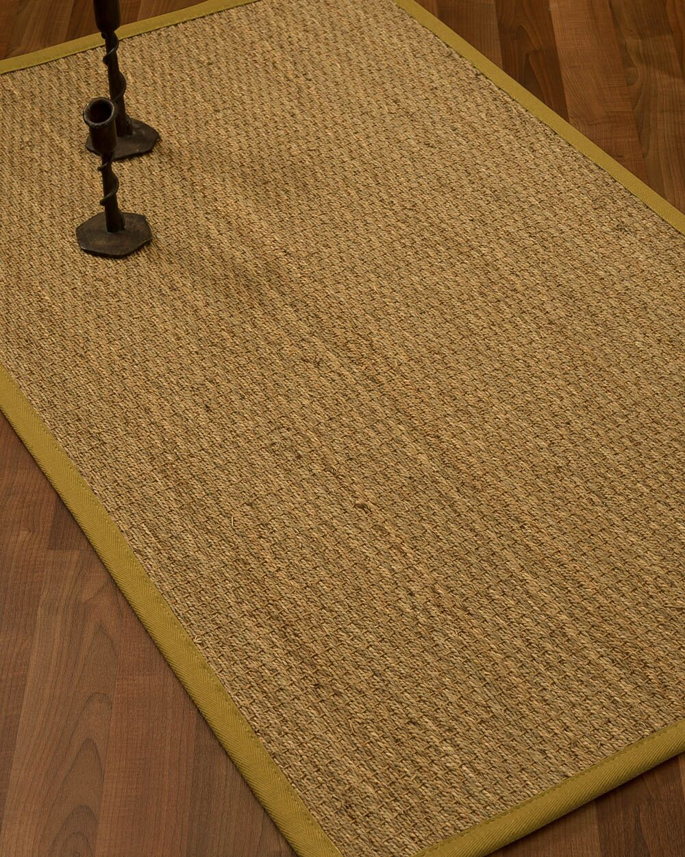 Vanmatre Border Hand-Woven Beige/Tan Area Rug Rug Size: Rectangle 4' x 6', Rug Pad Included: Yes