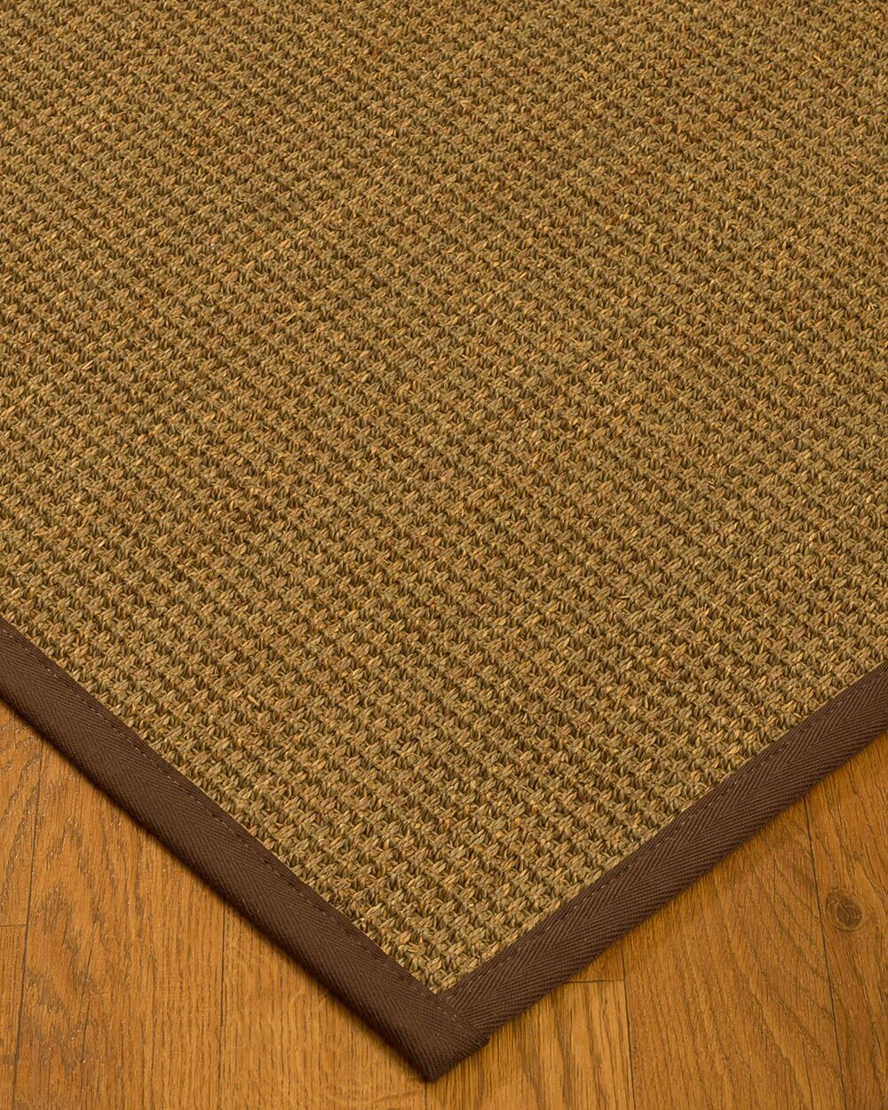 Kentwood Border Hand-Woven Beige/Brown Area Rug Rug Size: Rectangle 4' x 6', Rug Pad Included: Yes