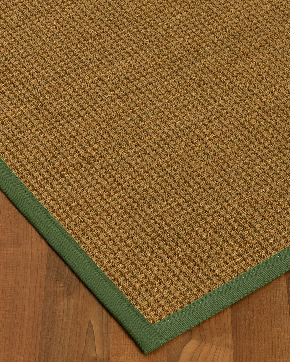 Chavez Border Hand-Woven Beige/Green Area Rug Rug Size: Rectangle 4' x 6', Rug Pad Included: Yes