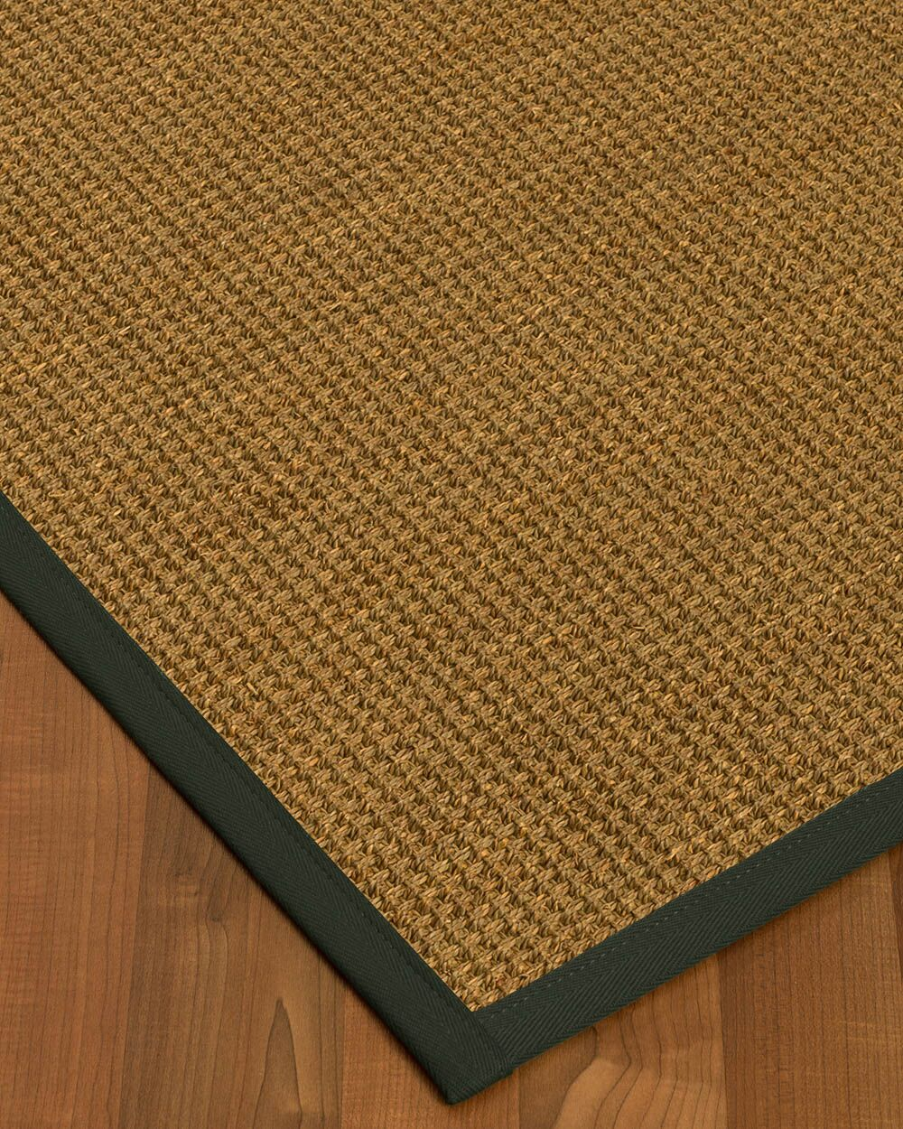 Chavez Border Hand-Woven Beige/Metal Area Rug Rug Pad Included: No, Rug Size: Rectangle 3' x 5'