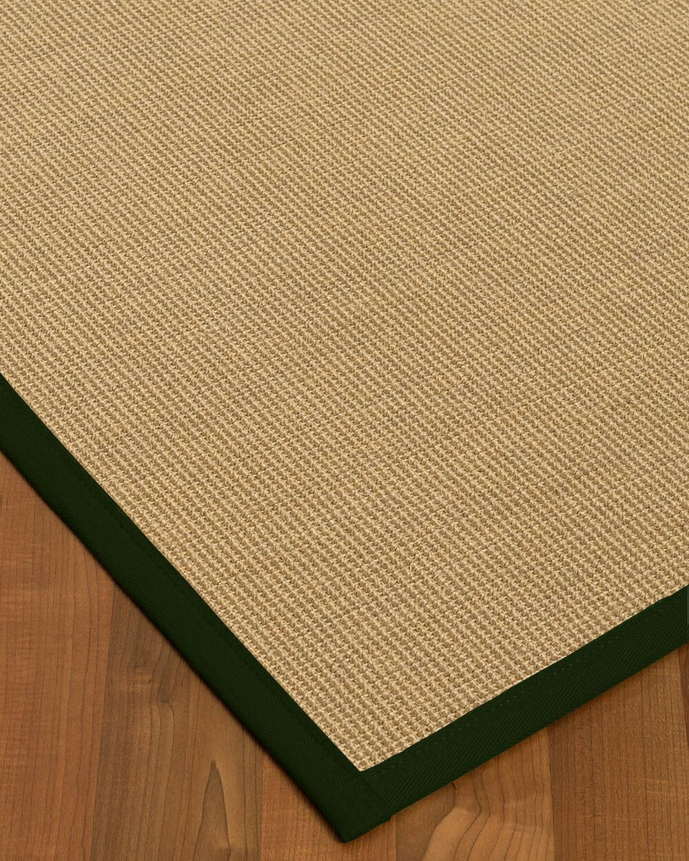 Atwell Border Hand-Woven Beige/Moss Area Rug Rug Size: Rectangle 9' x 12', Rug Pad Included: Yes