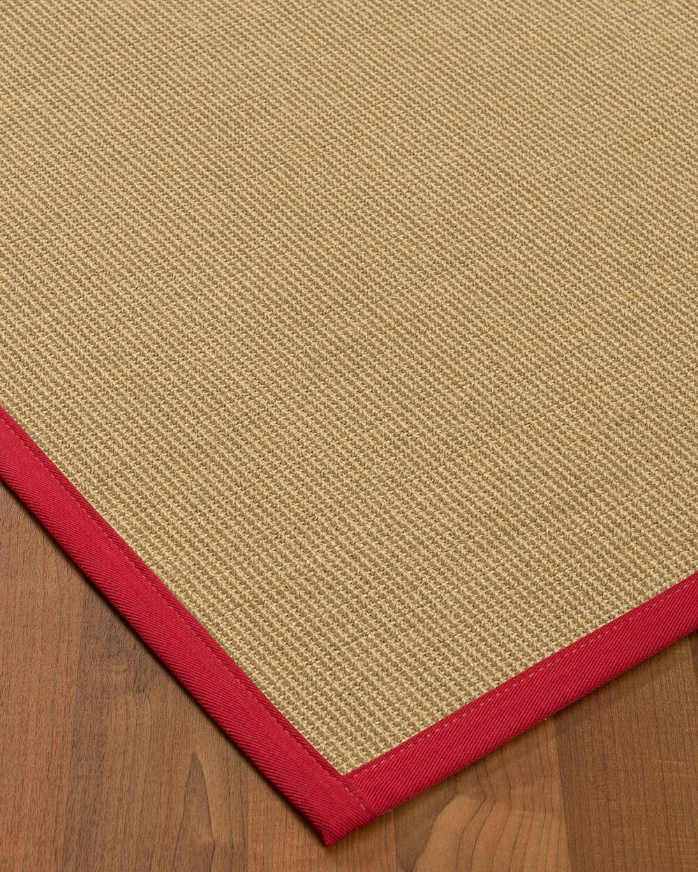Atwell Border Hand-Woven Beige/Red Area Rug Rug Size: Rectangle 9' x 12', Rug Pad Included: Yes
