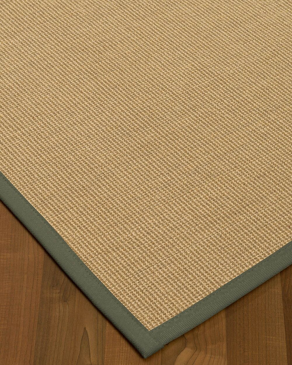 Atwell Border Hand-Woven Beige/Stone Area Rug Rug Size: Rectangle 8' x 10', Rug Pad Included: Yes