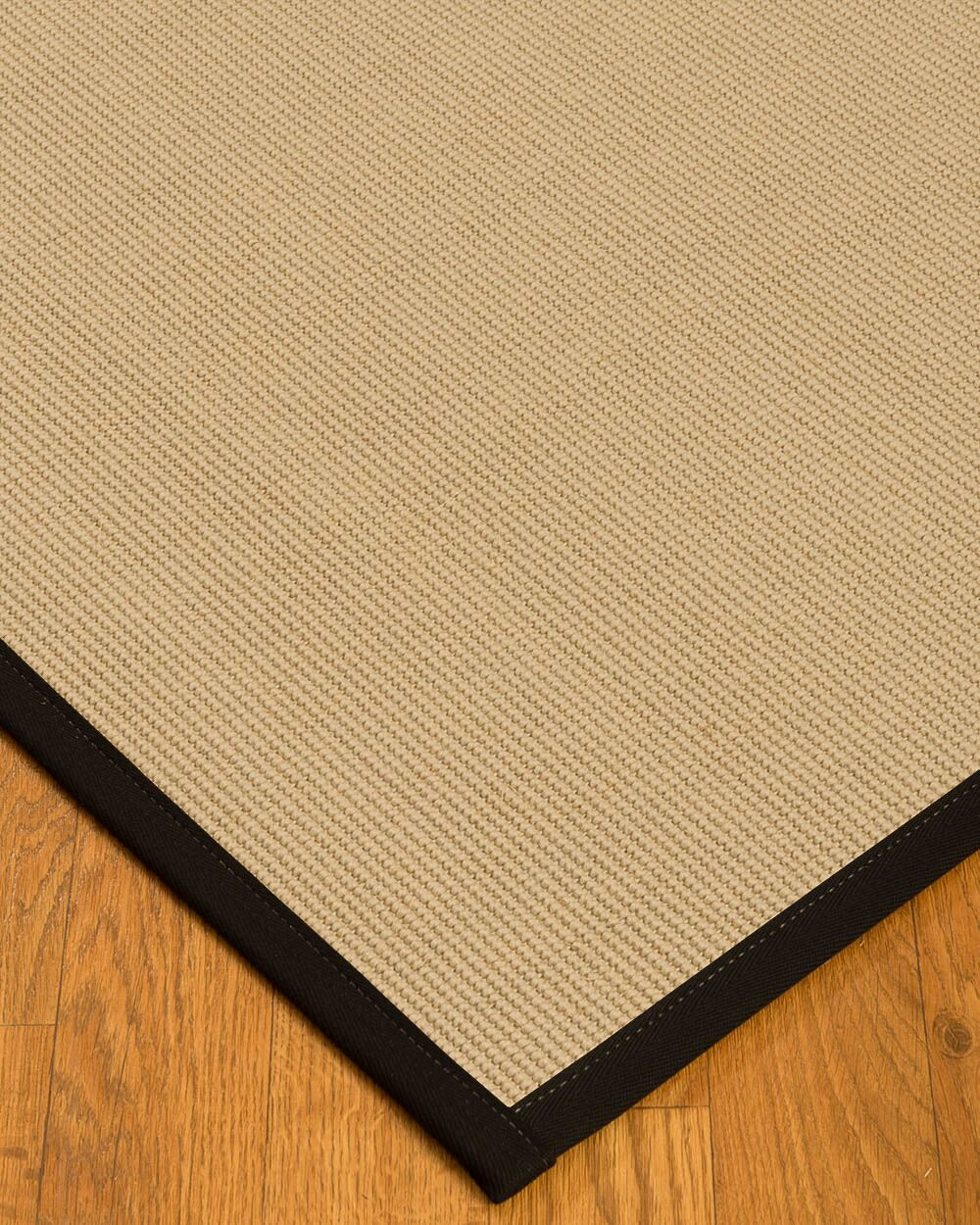 Vannatta Border Hand-Woven Wool Beige/Black Area Rug Rug Size: Rectangle 4' x 6', Rug Pad Included: Yes