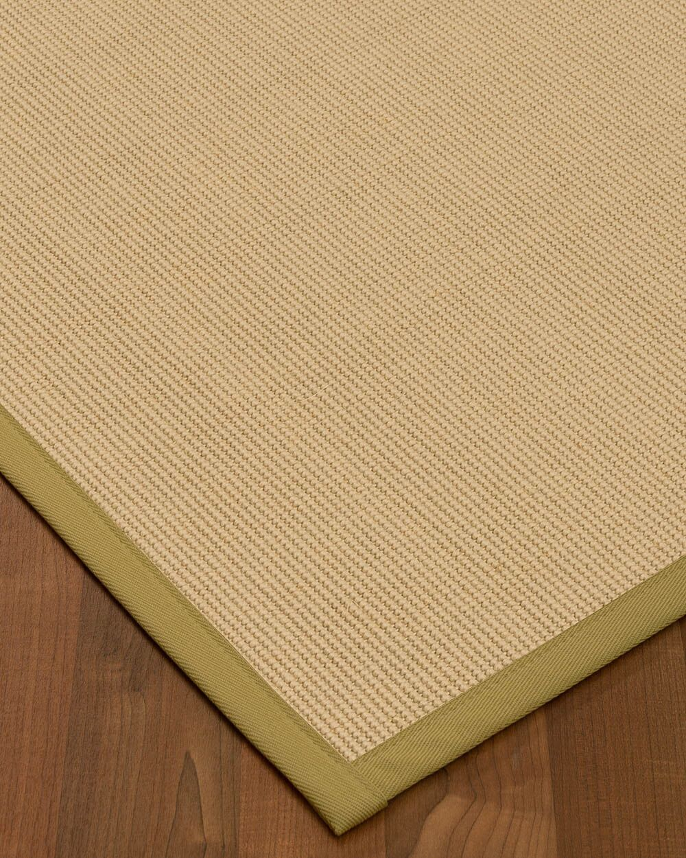 Vannatta Border Hand-Woven Wool Beige Area Rug Rug Size: Rectangle 8' x 10', Rug Pad Included: Yes