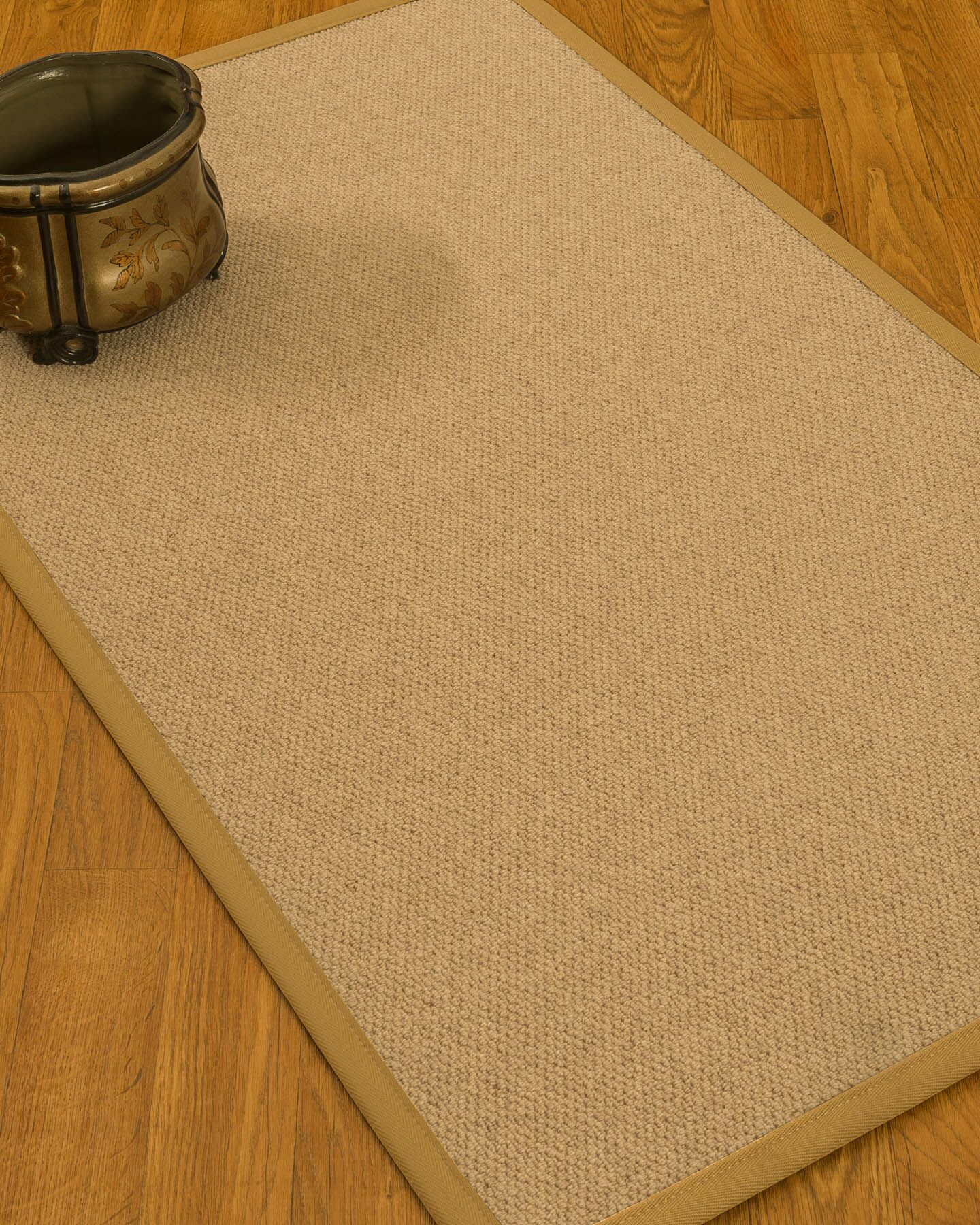 Chavira Border Hand-Woven Wool Beige/Sage Area Rug Rug Size: Rectangle 8' x 10', Rug Pad Included: Yes