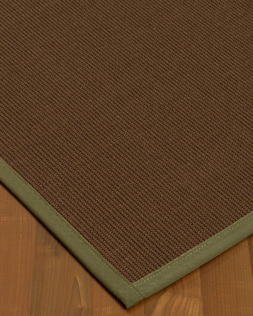 Heider Border Hand-Woven Brown/Fossil Area Rug Rug Pad Included: No, Rug Size: Runner 2'6
