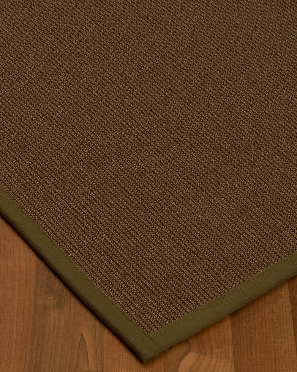 Heider Border Hand-Woven Brown/Malt Area Rug Rug Size: Rectangle 8' x 10', Rug Pad Included: Yes