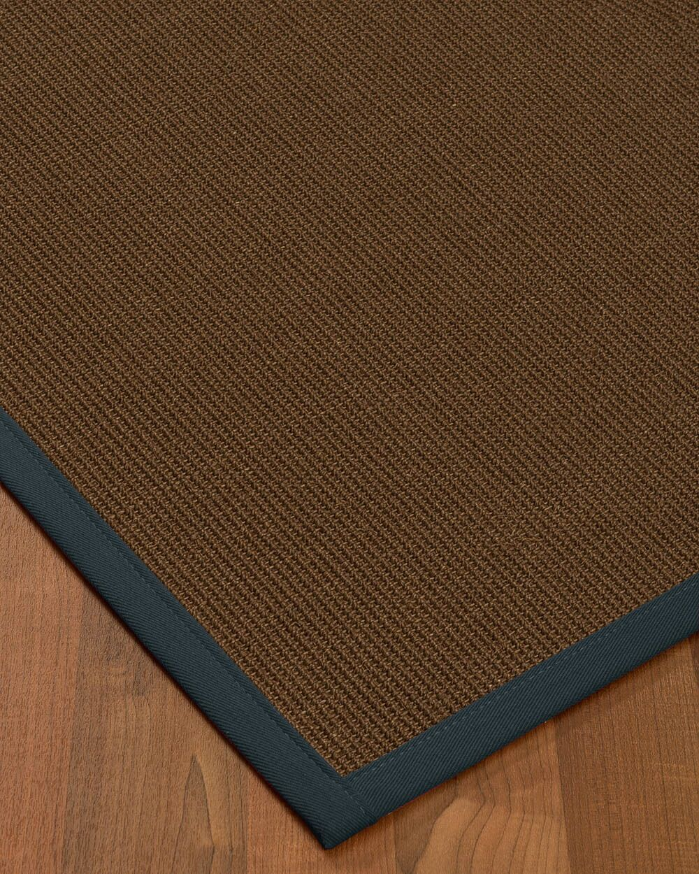 Heider Border Hand-Woven Brown/Marine Area Rug Rug Pad Included: No, Rug Size: Rectangle 3' x 5'