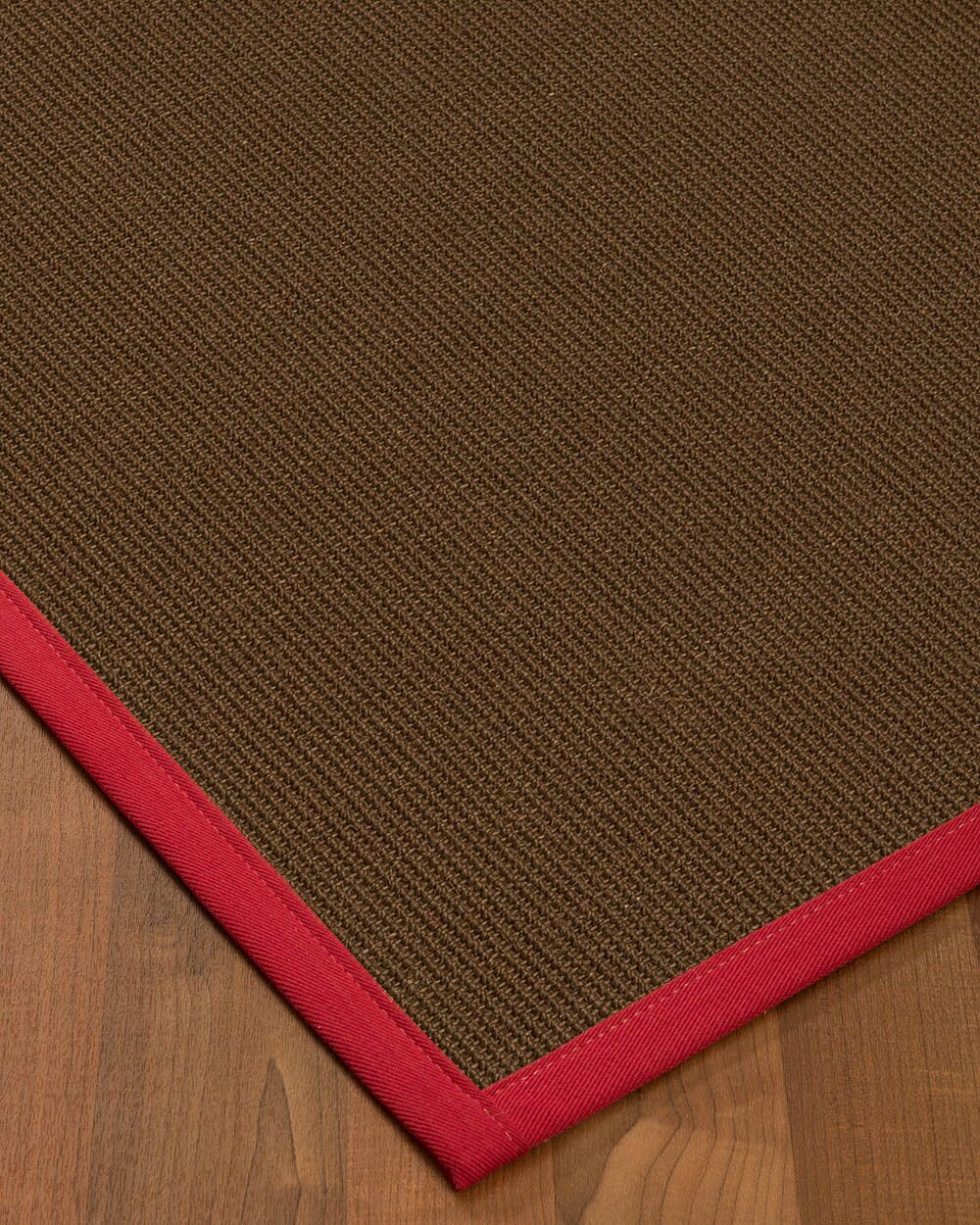 Heider Border Hand-Woven Brown/Red Area Rug Rug Size: Rectangle 4' x 6', Rug Pad Included: Yes