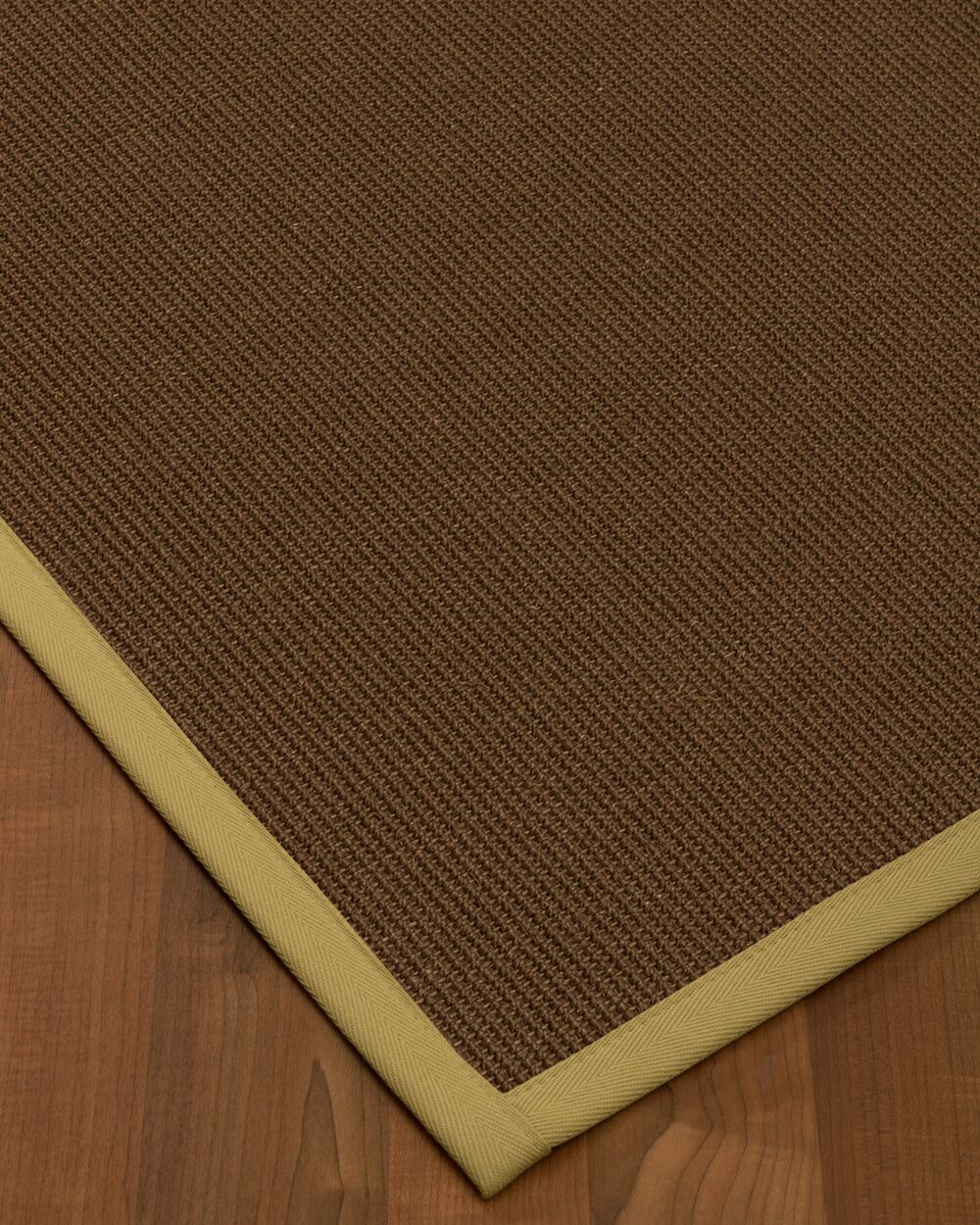 Heider Border Hand-Woven Brown/Sand Area Rug Rug Size: Rectangle 8' x 10', Rug Pad Included: Yes