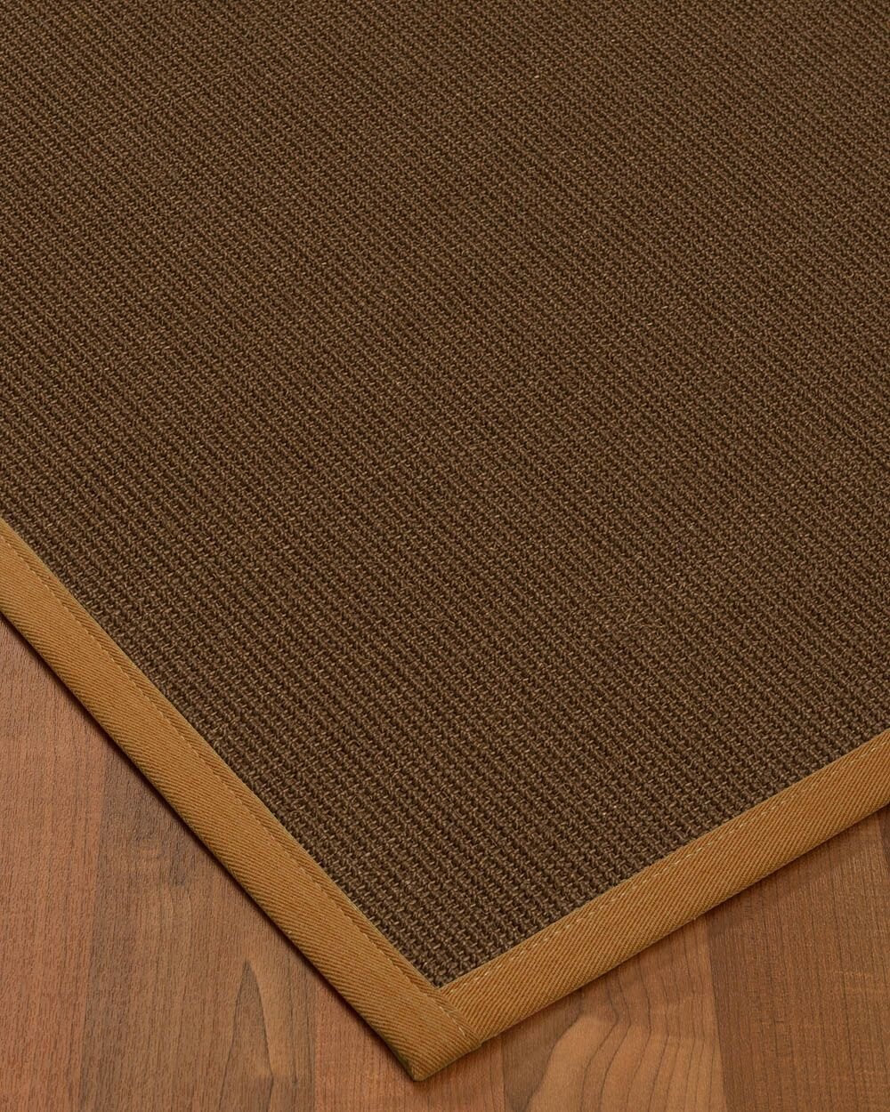 Heider Border Hand-Woven Brown/Sienna Area Rug Rug Size: Rectangle 8' x 10', Rug Pad Included: Yes
