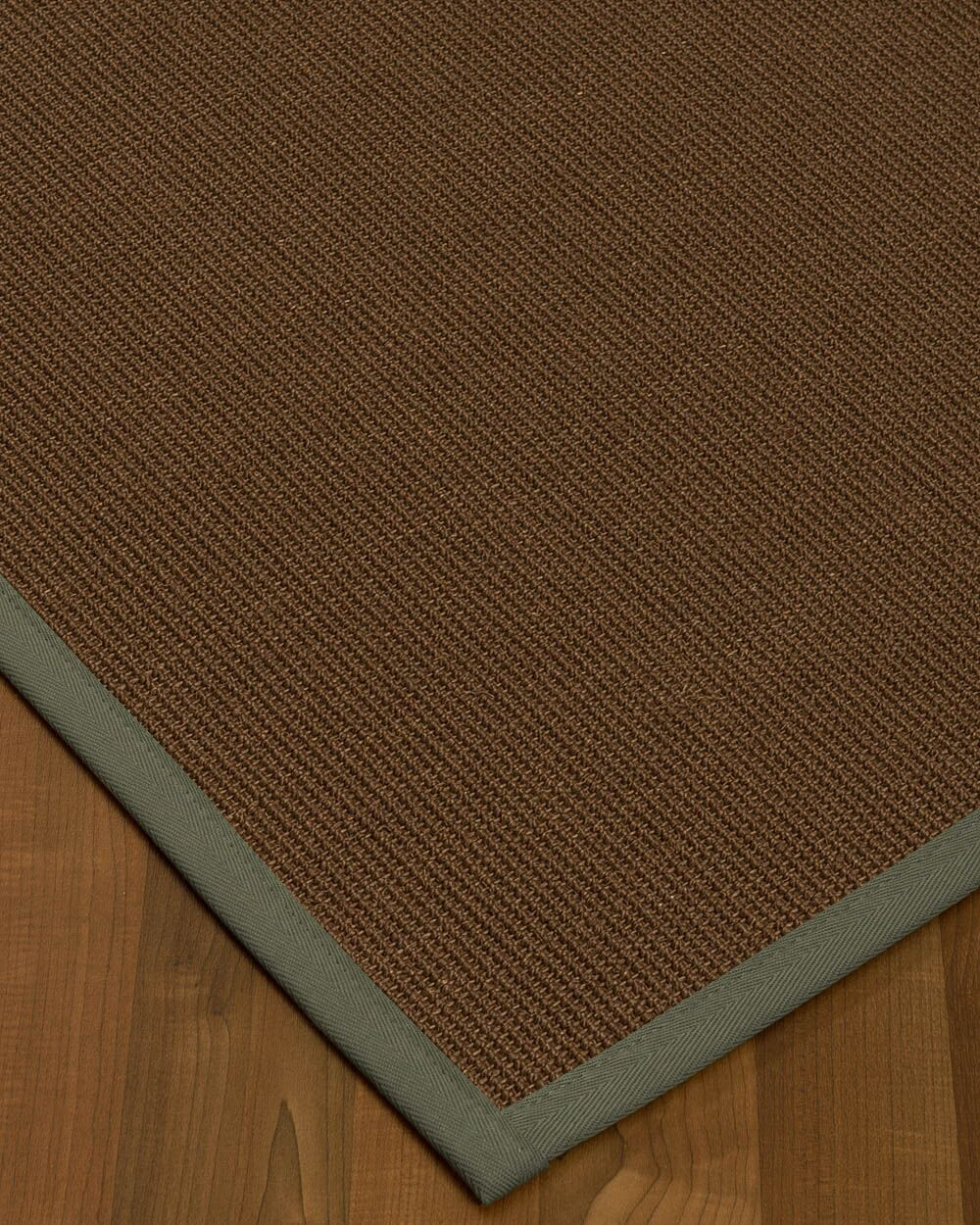 Heider Border Hand-Woven Brown/Gray Area Rug Rug Size: Rectangle 4' x 6', Rug Pad Included: Yes